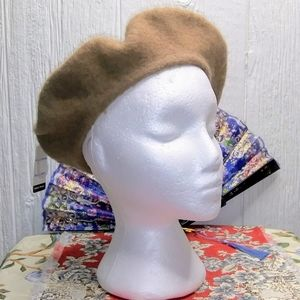GROOVY GLAM Camel Tan Classic French Beret
